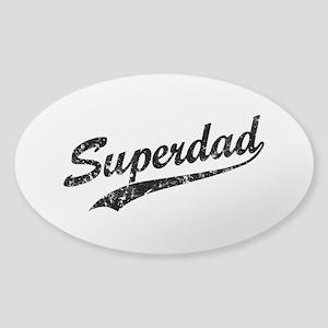 Vintage Super Dad Sticker (Oval)