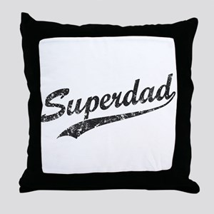 Vintage Super Dad Throw Pillow