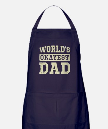 Vintage World's Okayest Dad Apron (dark)