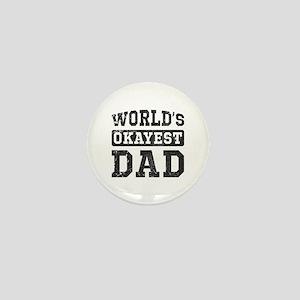 Vintage World's Okayest Dad Mini Button