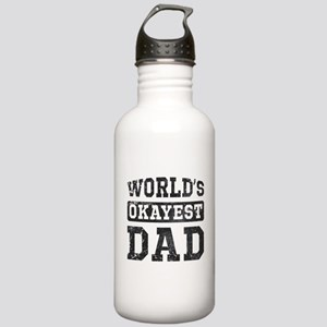 Vintage World's Okayest Dad Stainless Water Bottle