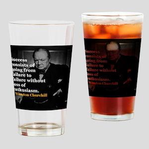 Winston Churchill on Sucess over failure Drinking