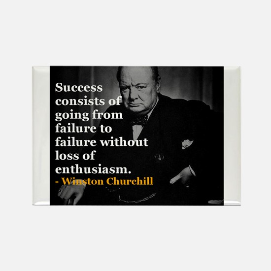 Winston Churchill on Sucess over failure Rectangle