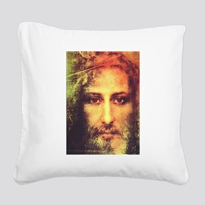 Image of Christ Square Canvas Pillow