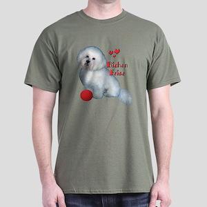 Bichon with Ball Dark T-Shirt