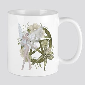 Wiccan Pentacle Beautiful Fairy Mug
