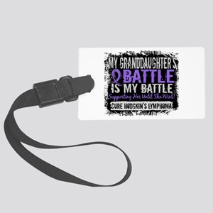 My Battle Too 2 H Lymphoma Large Luggage Tag