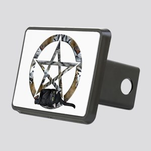 Wiccan Pentacle With Black Cat Hitch Cover