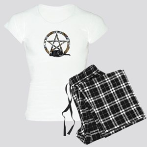 Wiccan Pentacle With Black Cat Pajamas