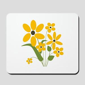 Yellow Summer Flowers Mousepad