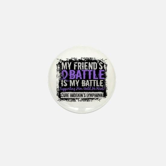 My Battle Too 2 H Lymphoma Mini Button