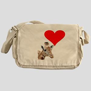 i love giraffe Messenger Bag