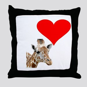 i love giraffe Throw Pillow