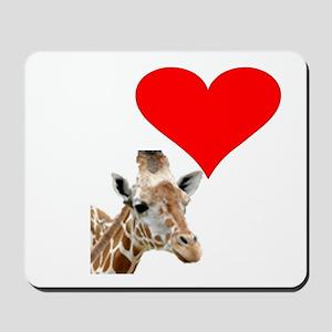 i love giraffe Mousepad