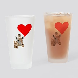i love giraffe Drinking Glass