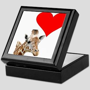 i love giraffe Keepsake Box