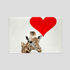 i love giraffe Rectangle Magnet