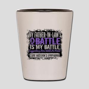 My Battle Too 2 H Lymphoma Shot Glass