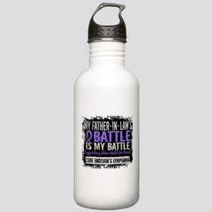 My Battle Too 2 H Lymphoma Stainless Water Bottle
