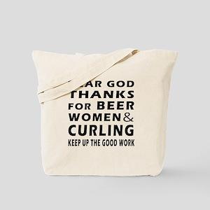 Beer Women And Curling Tote Bag