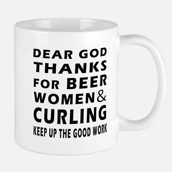 Beer Women And Curling Mug