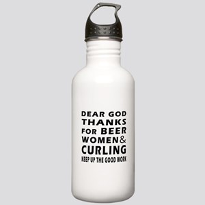 Beer Women And Curling Stainless Water Bottle 1.0L