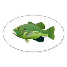 Green Sunfish fish v2 Sticker