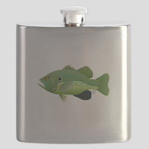 Green Sunfish fish v2 Flask
