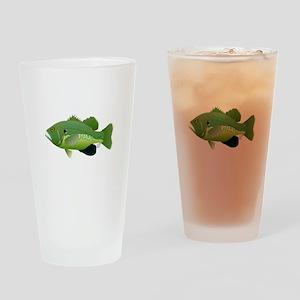 Green Sunfish fish v2 Drinking Glass