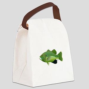 Green Sunfish fish v2 Canvas Lunch Bag