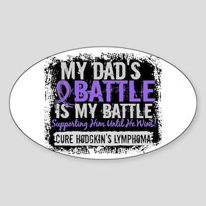 My Battle Too 2 H Lymphoma Sticker (Oval)