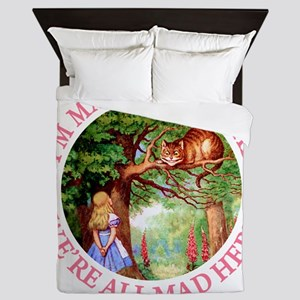 WE'RE ALL MAD HERE Queen Duvet