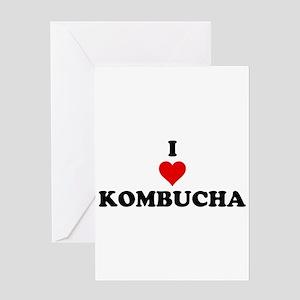 I Love Kombucha Greeting Card