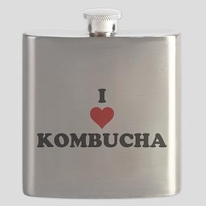 I Love Kombucha Flask