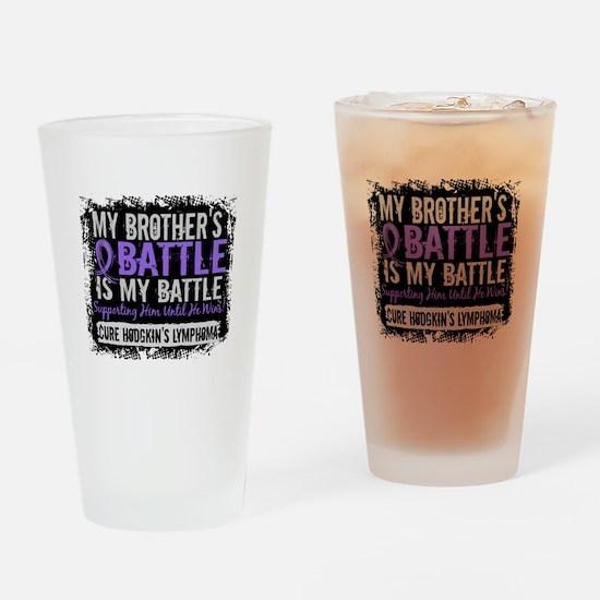 My Battle Too 2 H Lymphoma Drinking Glass