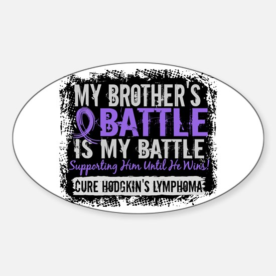 My Battle Too 2 H Lymphoma Sticker (Oval)
