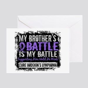 My Battle Too 2 H Lymphoma Greeting Card