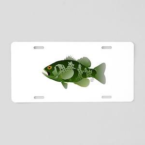 Northern Rock Bass v2 Aluminum License Plate