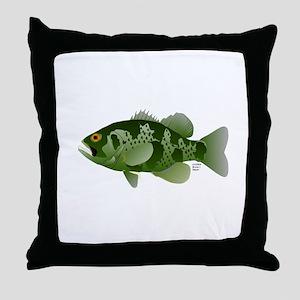 Northern Rock Bass v2 Throw Pillow