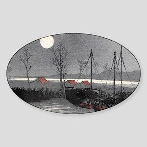 Sailboats Moored Under the Moon - Konen Uehara - 1