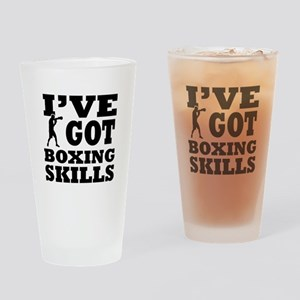 Boxing martial arts designs Drinking Glass