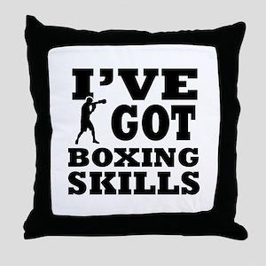 Boxing martial arts designs Throw Pillow