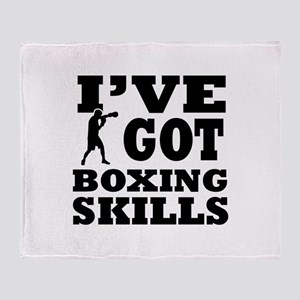 Boxing martial arts designs Throw Blanket