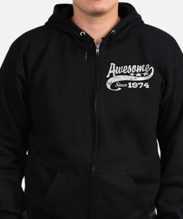 Awesome Since 1974 Zip Hoodie (dark)