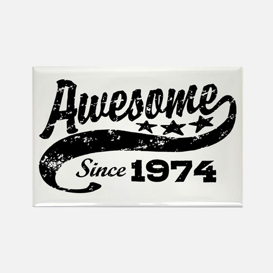 Awesome Since 1974 Rectangle Magnet
