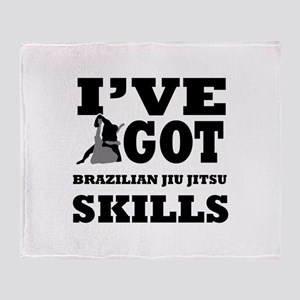Brazilian Jiu Jitsu martial arts designs Throw Bla