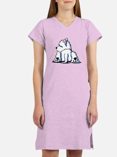 Cool Belly Westie Women's Nightshirt