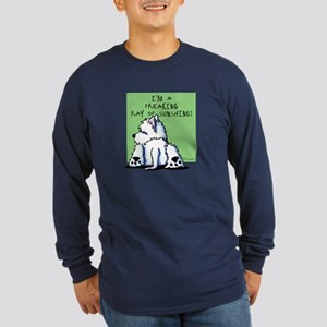Cool Belly Westie Long Sleeve Dark T-Shirt