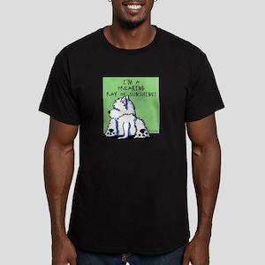 Cool Belly Westie Men's Fitted T-Shirt (dark)