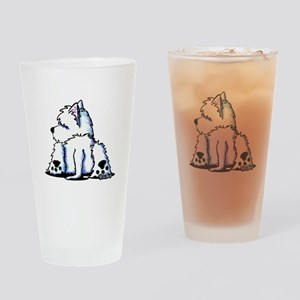 Cool Belly Westie Drinking Glass